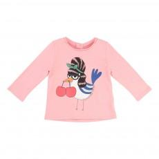 T-shirt Oiseau Cerise Rose