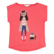 T-shirt  Miss Marc Rouge