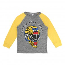 T-shirt Casque Hockey Tigre Gris chiné