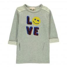 Robe Molleton Smiley Love Sequins Molli Gris chiné