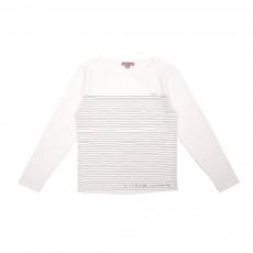 T-Shirt Rayures Ecru