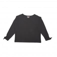 T-Shirt Détails Pois Noir