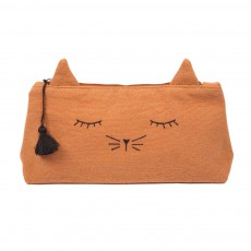 Trousse Toile Chat Mine Caramel