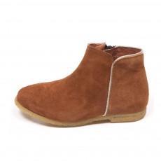 Boots Liseré Argenté Ida Caramel