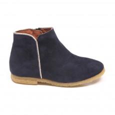 Boots Liseré Argenté Ida Bleu marine