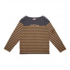 T-Shirt Marinière Gris anthracite