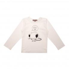 T-Shirt Souris Endormie Ecru
