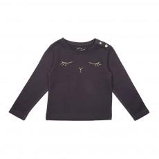 T-Shirt Lapin Brodé Sam Gris anthracite