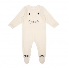 Pyjama Velours Souris Eliot Ecru