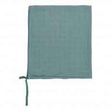 Lange en mousseline de coton 60x60 cm Bleu pétrole