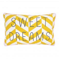 "Coussin rayé ""Sweet dreams"" 30x20 cm Jaune"