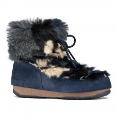 Moon Boot We Low Fur Bleu marine