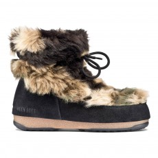 Moon Boot We Low Fur Vert kaki