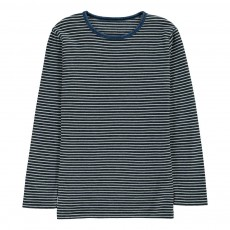 T-Shirt Rayé Crew Bleu indigo