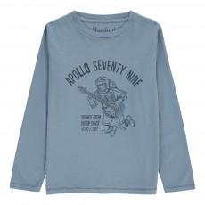 T-Shirt Astronaute Apollo Bleu jean