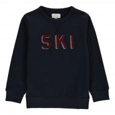 """Sweat """"Ski"""" Bouclé Bleu marine"""