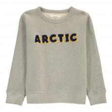 """Sweat """"Arctic"""" Bouclé Gris chiné clair"""