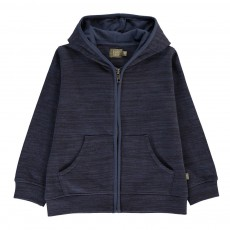Sweat Capuche Coton Bio Hunter Bleu marine