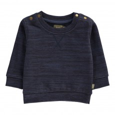 Sweat Chiné Coton Bio Hunter Bleu marine