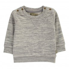 Sweat Chiné Coton Bio Hunter Gris chiné