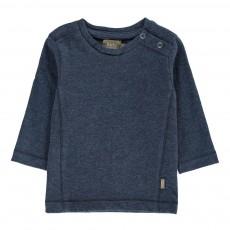 T-Shirt Coton Bio Bay Boutons Bleu marine