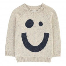 Pull Smiley Chiné Nat X Antoine Peters Ecru