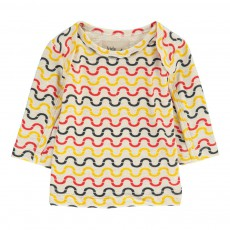 T-Shirt Vagues Coton Bio Alf X Antoine Peters Jaune