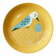 Assiette en céramique nid d'oiseau Multicolore