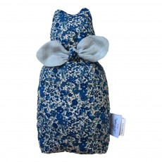 Grand doudou Alphonse - Liberty deep blue Bleu