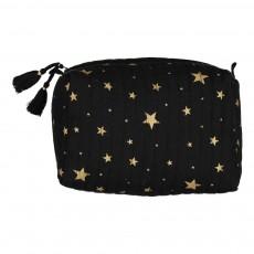 Trousse de toilette 23 cm noir étoiles or Noir