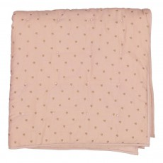 Edredon en coton 90x90 cm fleurie rose/or Rose