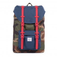 Sac à Dos Little America Mid Volume Camouflage Bleu marine