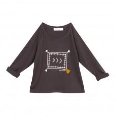T-shirt Pompons Miat Gris foncé