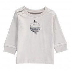 T-Shirt Jour Nuit Coton Bio Gris clair