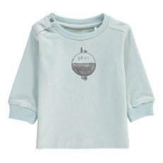 T-Shirt Jour Nuit Coton Bio Bleu