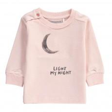 T-Shirt Lune Coton Bio Rose pâle