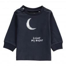 T-Shirt Lune Coton Bio Bleu marine