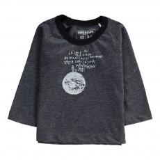 T-Shirt Lune Coton Bio Gris foncé
