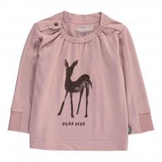T-Shirt Cerf Coton Bio Vieux Rose