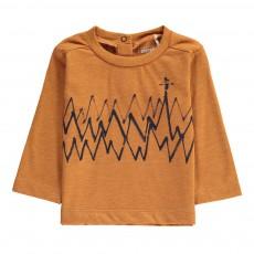 T-Shirt Zig Zag Coton Bio Rouille