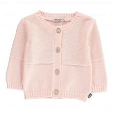 Cardigan Coton Rose pâle
