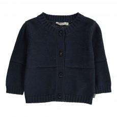 Cardigan Coton Bleu marine