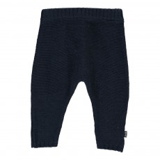 Pantalon Maille Bleu marine