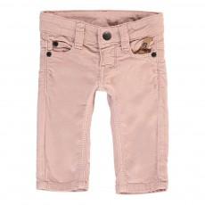 Pantalon Velours Slim Fit Rose pâle