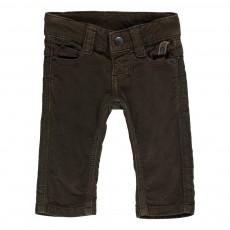 Pantalon Velours Slim Fit Vert kaki