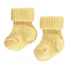 Chaussettes Côtelées  Coton Bio Jaune