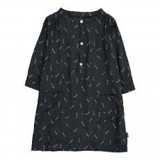 Robe Boutonnée Pois Noir