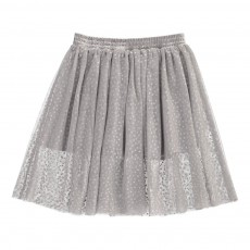 Jupon Tulle Pois Amalie Gris