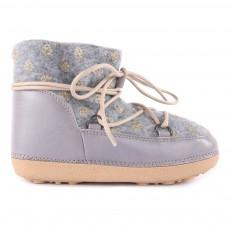 Boots Fourrées Pois Dorés Anouk Gris