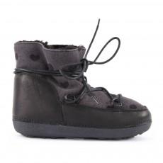 Boots Fourrées Cœurs Anouk Noir